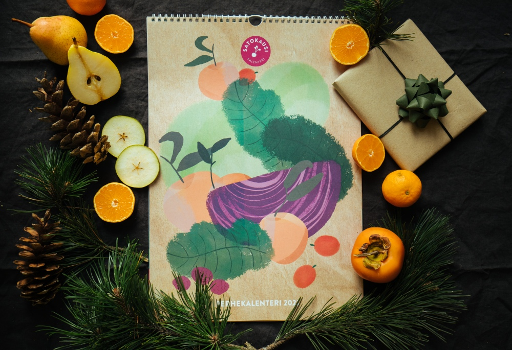 satokausikalenteri joululahja